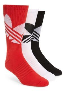 adidas Originals 3-Pack Big Trefoil Crew Socks