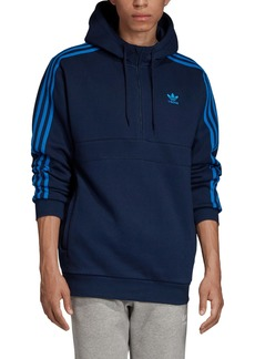 adidas Originals 3-Stripes Half Zip Pullover Hoodie