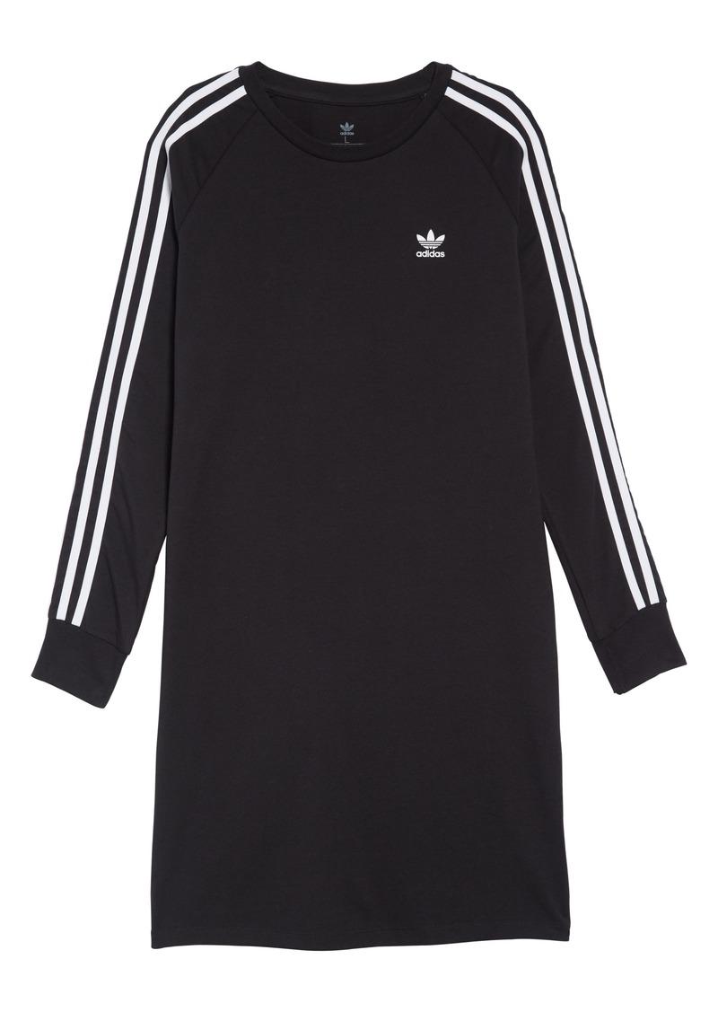 adidas Originals 3-Stripes T-Shirt Dress (Big Girls)
