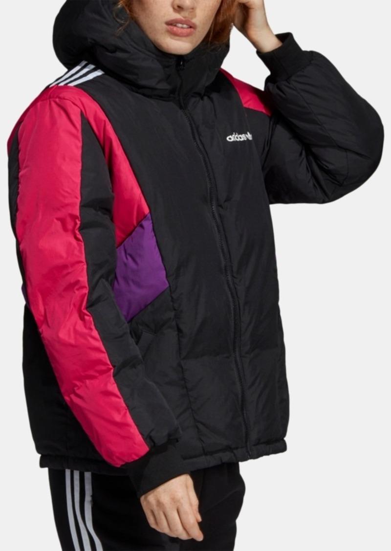 adidas Originals 90s Colorblocked Hooded Down Jacket