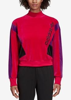 adidas Originals 90s Colorblocked Velour Sweatshirt