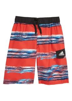 40d06b7004 adidas Originals Abstract Wave Volley Swim Trunks (Big Boys)