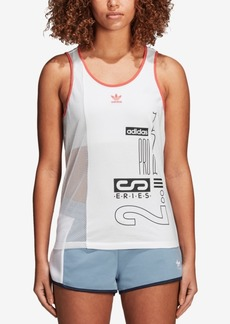 adidas Originals Active Icons Mesh-Blocked Tank Top