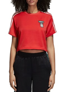 adidas Originals Adibreak Cropped Satin Tee