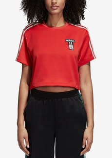 adidas Originals Adibreak Satin Cropped T-Shirt