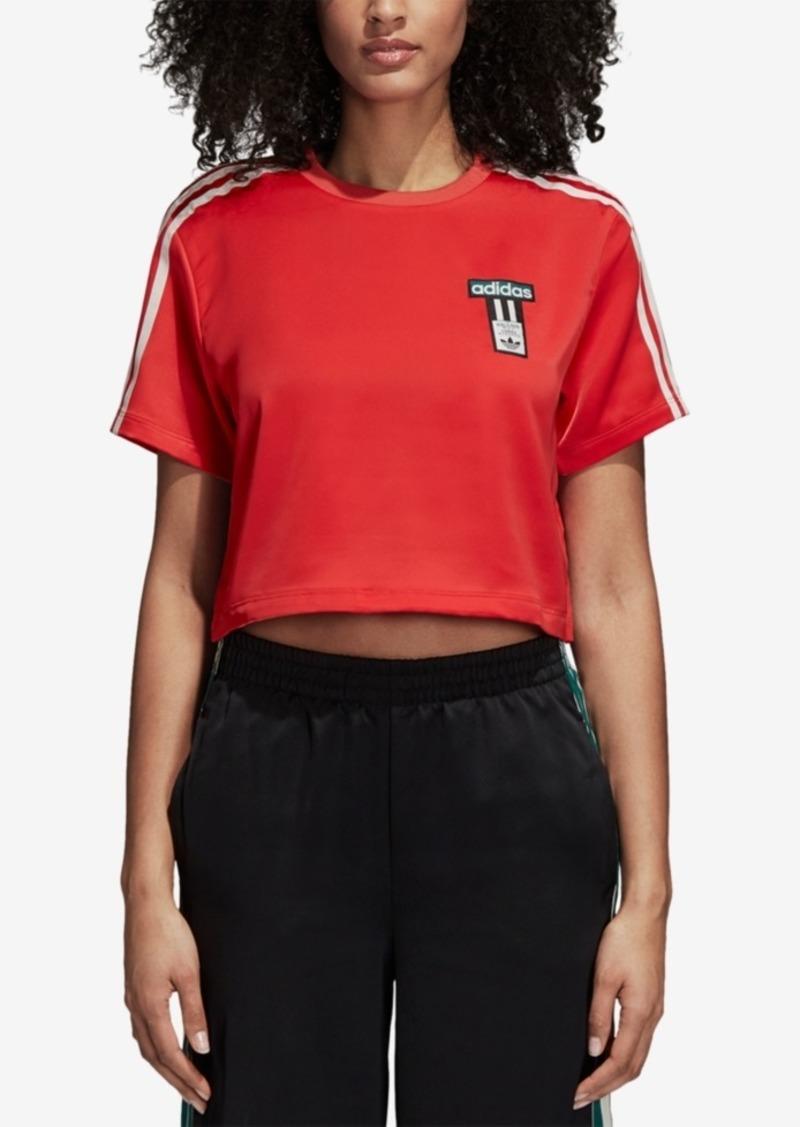 adidas Originals Adibreak Satin Cropped T-Shirt