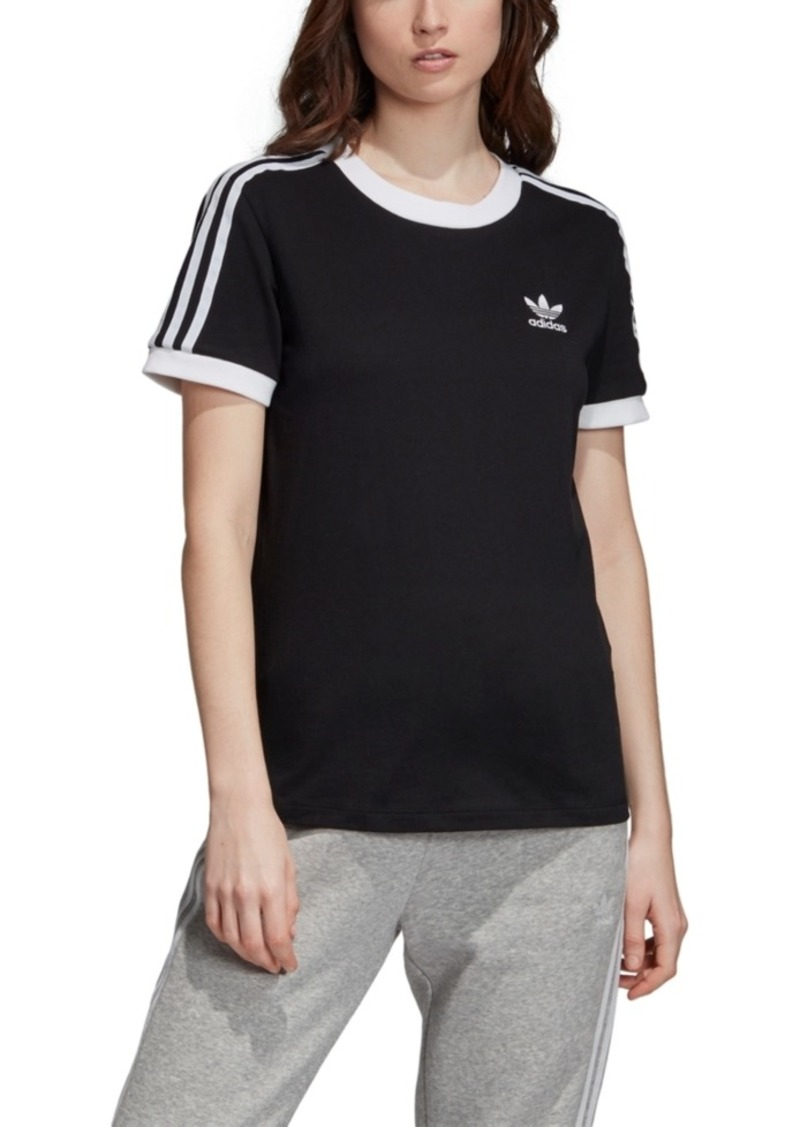 adidas Originals Women's Adicolor Cotton 3-Stripe T-Shirt