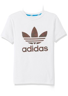 adidas Originals Tops Big Boys' Trefoil Tee