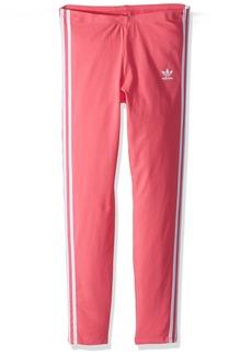 adidas Originals Girls' Big 3 Stripes Leggings  L
