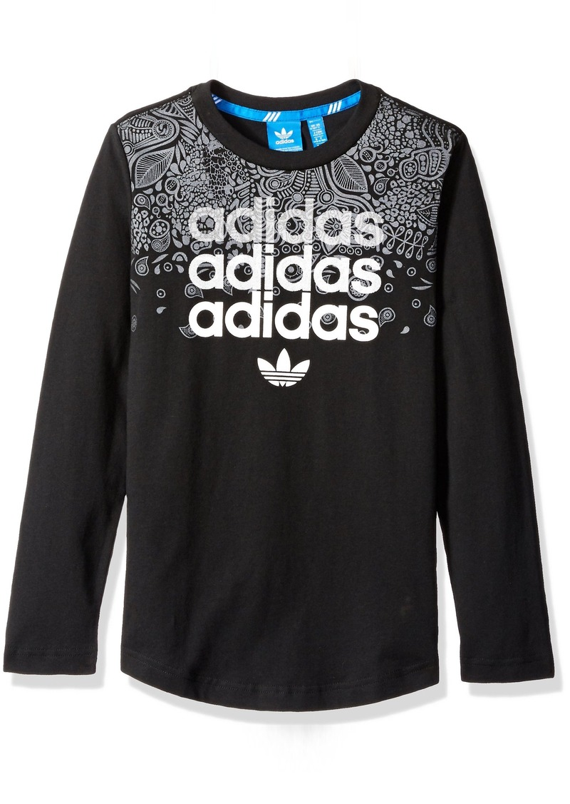 42935b085 adidas Originals Boys' Big Boys' Youth Samba Nights Long Sleeve Tee ...