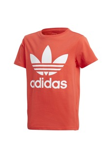 adidas Originals Boys' Big Trefoil Tee Bright red/White XL