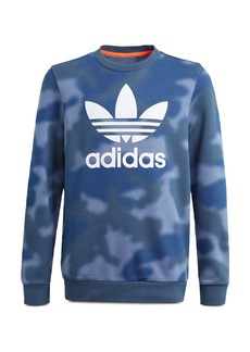 adidas Originals Boys' Camo Print Logo Crewneck Sweatshirt - Big Kid