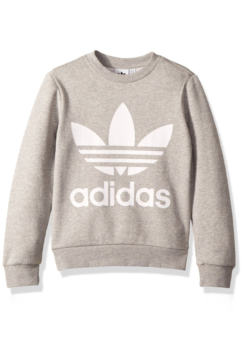 adidas Originals Boys' Little Trefoil Crew  XS