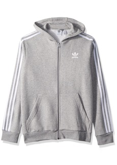 adidas Originals Boys' Little Trefoil Full-Zip Hoodie  S