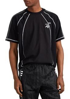 adidas Originals by Alexander Wang Men's Logo-Detailed Striped Tech-Jersey T-Shirt