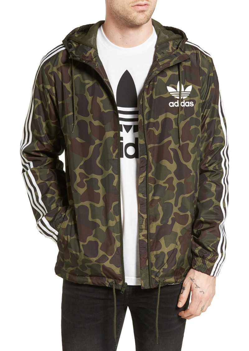 35f368de7650de On Sale today! Adidas adidas Originals Camo Windbreaker
