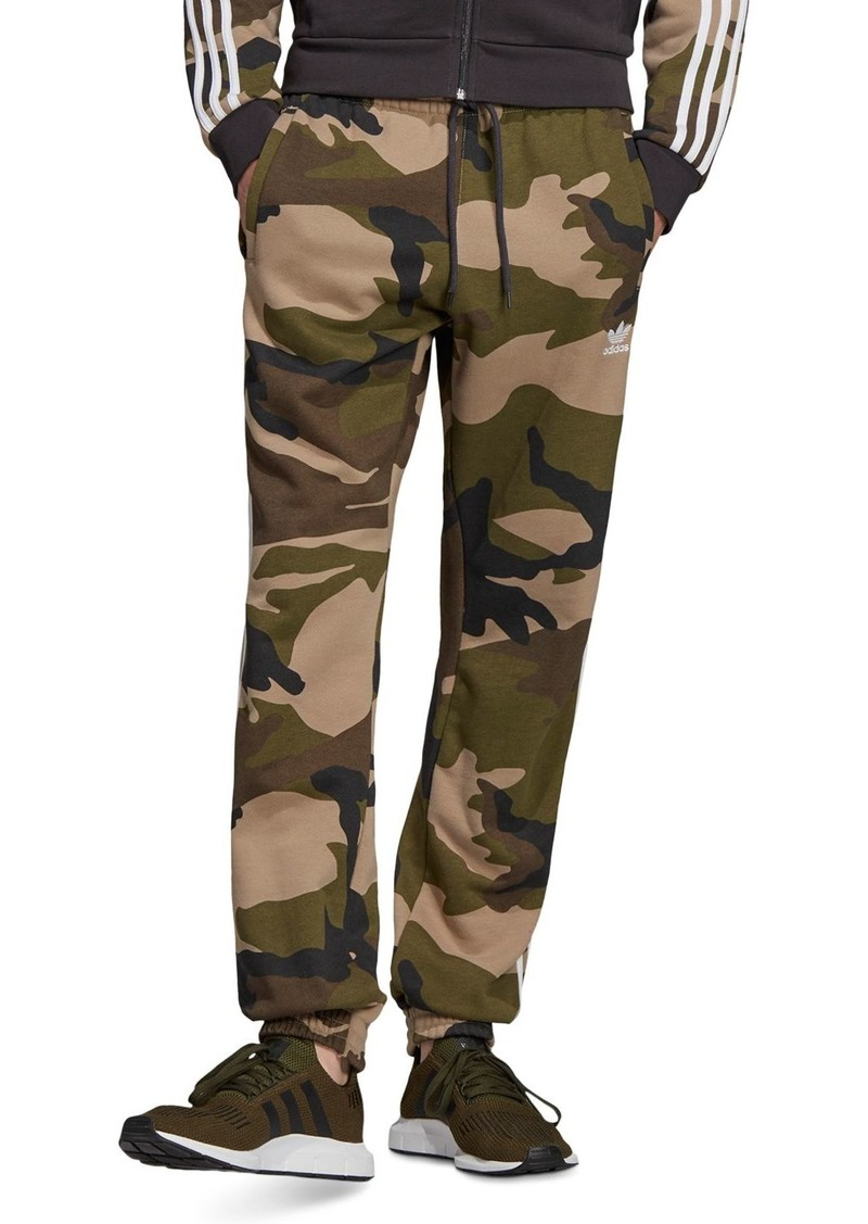adidas Originals Camouflage-Print Fleece Sweatpants