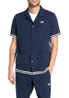 adidas Originals Check Snap Top Short Sleeve Shirt