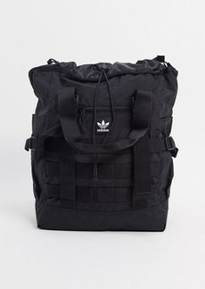 adidas Originals clear backpack in black