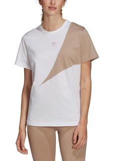adidas Originals Women's Cotton Colorblocked Boyfriend T-Shirt