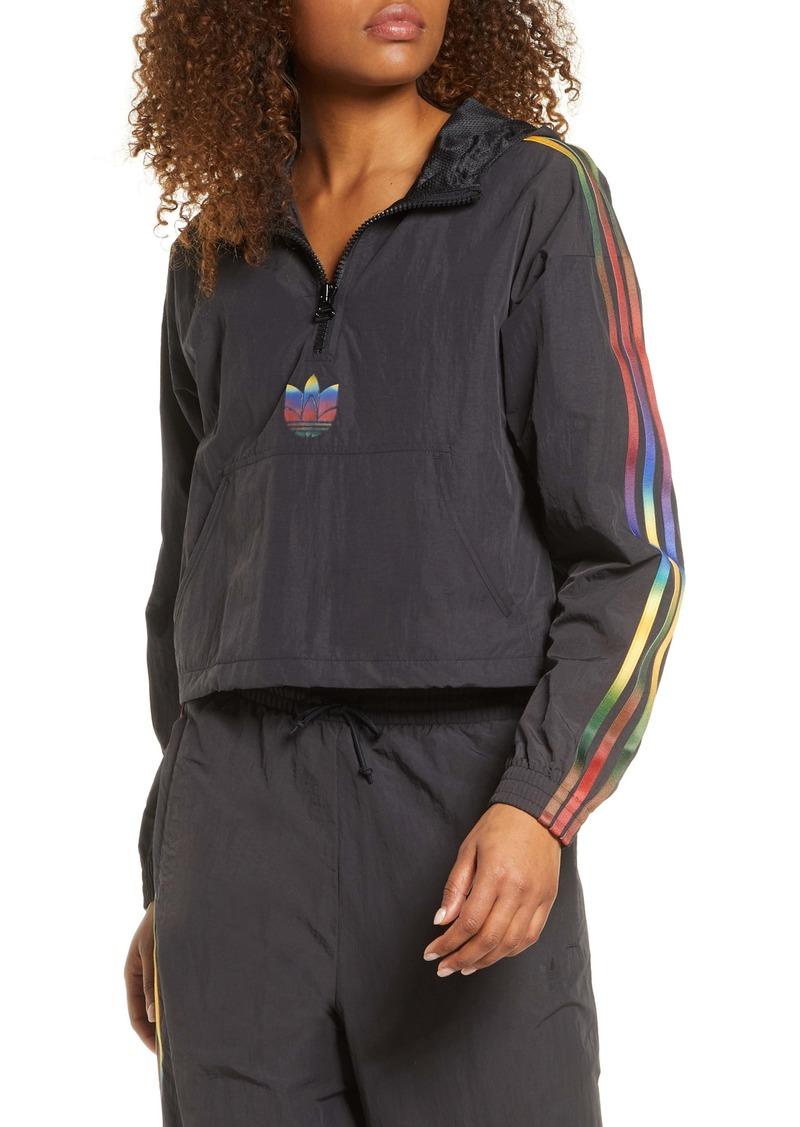 adidas Originals Crop Half Zip Hooded Pullover