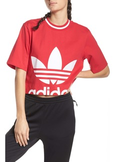 adidas Originals Crop Logo Graphic Top