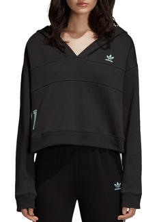 adidas Originals Cropped Hooded Sweatshirt