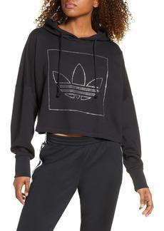 adidas Originals Embellished Logo Crop Hoodie