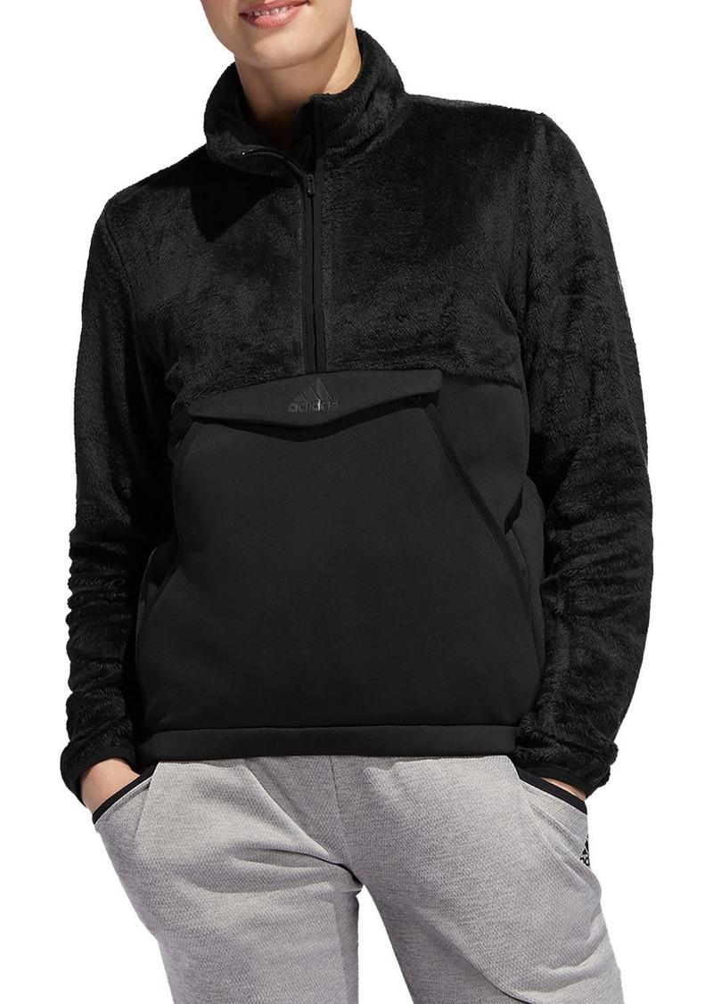 adidas Originals Fleece Detail Half-Zip Sweatshirt