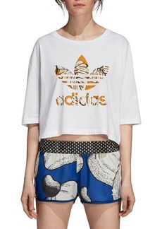 Adidas Originals Graphic Cotton Cropped Tee
