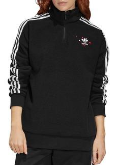 adidas Originals Hearts Quarter-Zip Fleece Sweatshirt