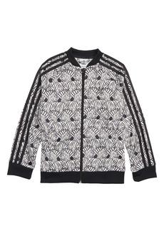 adidas Originals J Zebra Track Jacket (Big Girls)