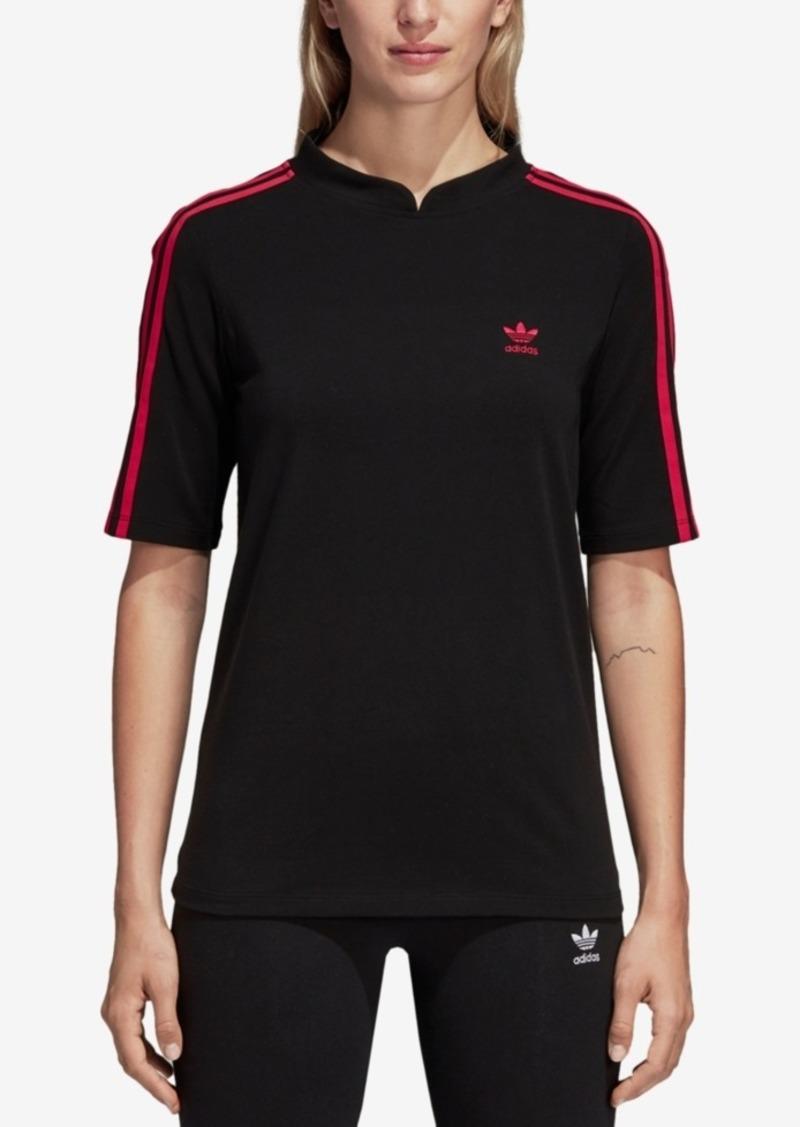 adidas Originals Leoflage Mandarin-Collar T-Shirt