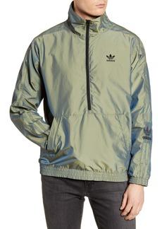 adidas Originals Liquid Metal Nylon Blend Half Zip Jacket