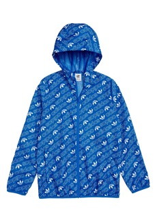 adidas Originals Logo Hooded Jacket (Big Boys)