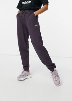 adidas Originals logo RYV sweatpants in dark purple