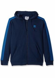 adidas Originals Men's 3-Stripes Full-Zip Sweatshirt collegiate Navy/Bluebird