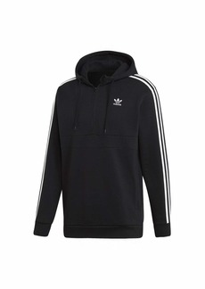 adidas Originals Men's 3-Stripes Half-Zip Sweatshirt black