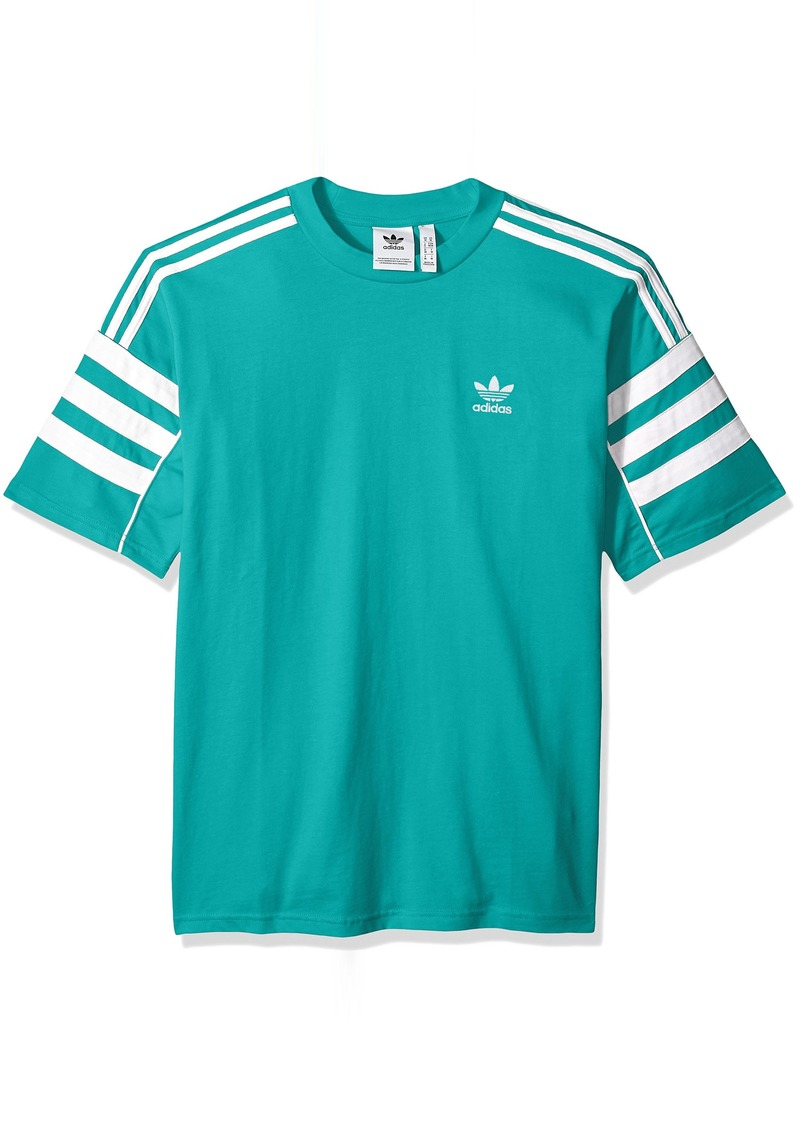 adidas Originals Men's Authentics Short Sleeve Tee hi/res Aqua/White XS