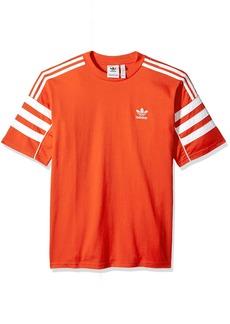 adidas Originals Men's Authentics Short Sleeve Tee hi/res red/white 2XL