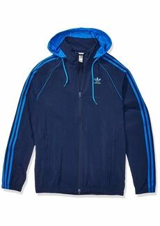 adidas Originals Men's BLC Superstar Windbreaker Jacket collegiate Navy