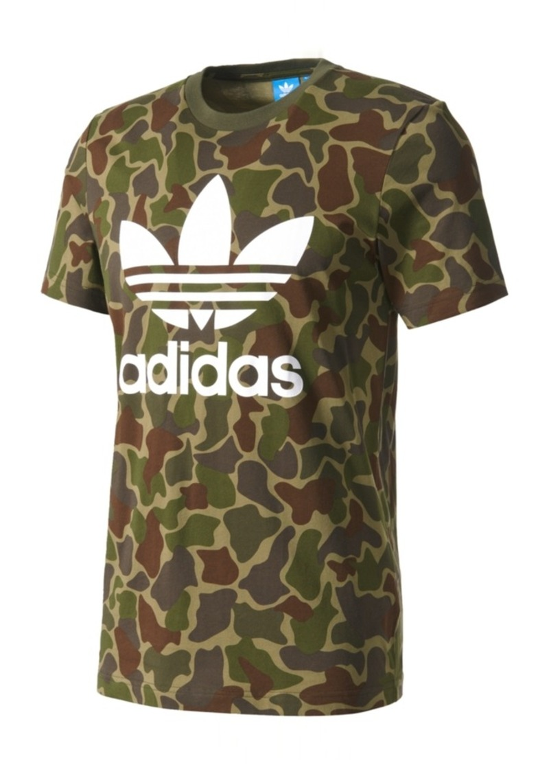 sports shoes a2dcb 7aff4 adidas Originals Mens Camo-Print Cotton T-Shirt