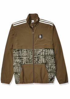 adidas Originals Men's Dakari CA Jacket raw Khaki/Night Cargo/White