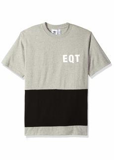 adidas Originals Men's EQT Panel Graphic Tee medium grey heather XS