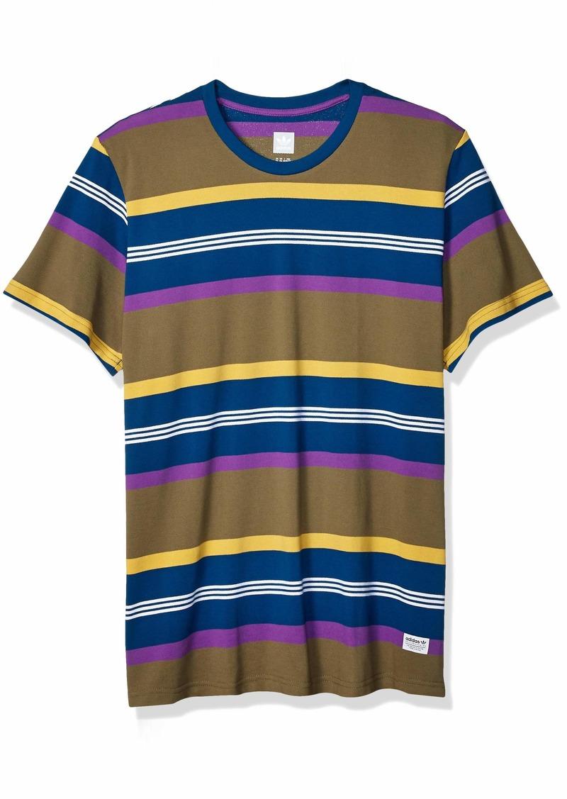 adidas Originals Men's Grover Shirt raw Khaki/Legend Marine/Active Purple/Pyrite