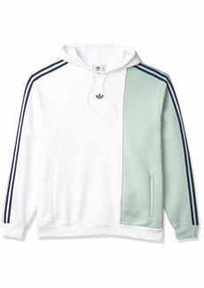 adidas Originals Men's Hirschlocker Sweatshirt /Green Tint/Tech Indigo XS
