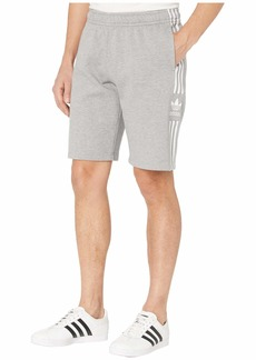 adidas Originals Men's Lock Up Long Sweat Shorts  Grey Heather M