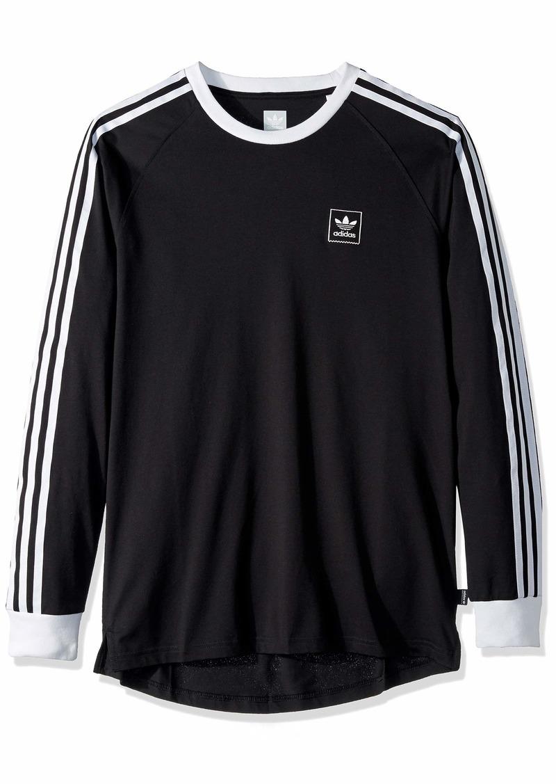 adidas Originals Men's Long Sleeve Cali Blackbird Tee black/white
