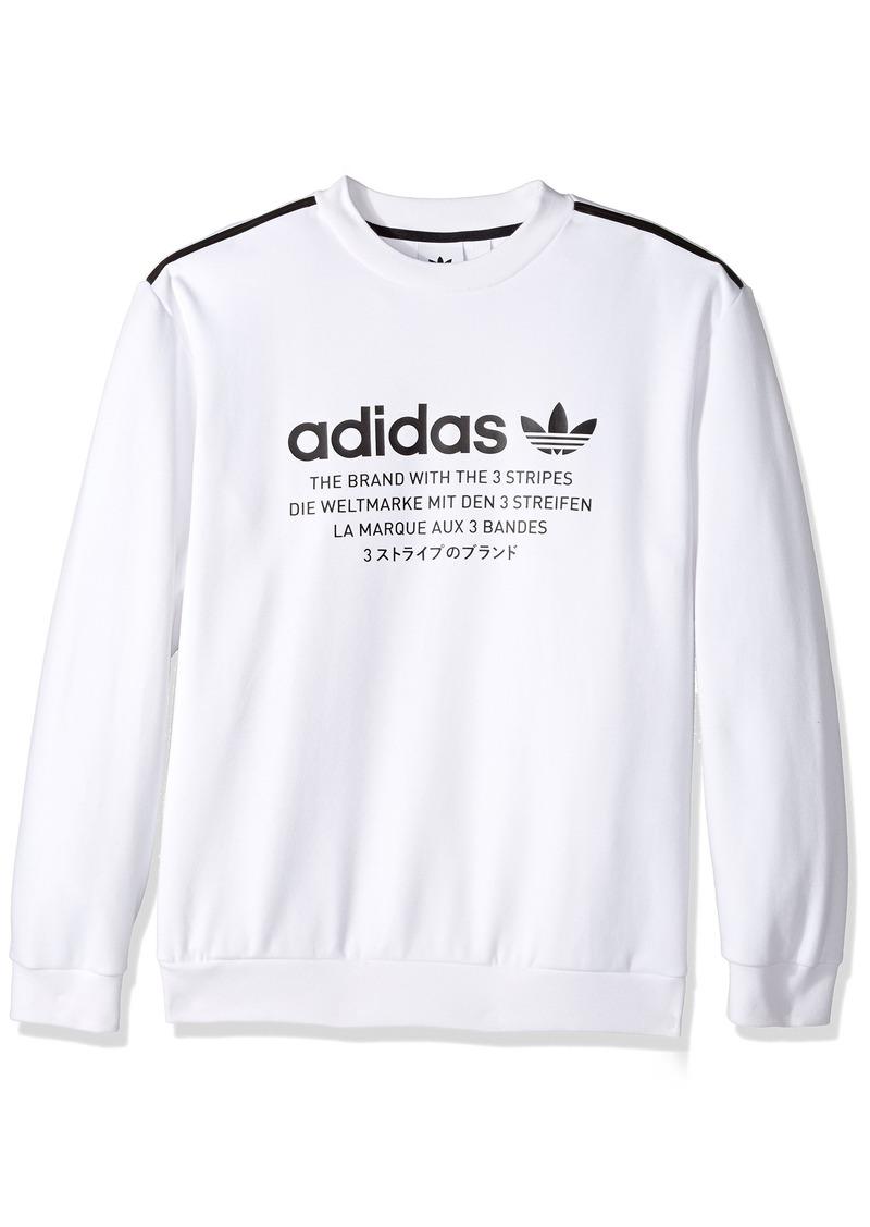 adidas Originals Men's Outerwear Trefoil Crew Sweatshirt