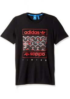 adidas Originals Men's Outerwear Ma1 Padded Track Jacket Black/Scarlet